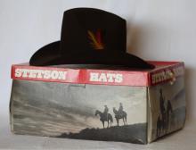 Vintage Stetson 4X Beaver Cowboy Hat w/ Orig. Box