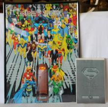 Death of Superman Poster & Comic Book
