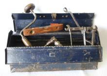 Vintage Tool Box w/ Tools - Set up as a Display