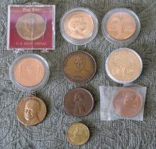 Lot of 10 Presidential Commemorative Medals