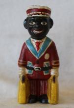 Cast Iron Black Americana Bellboy Figure