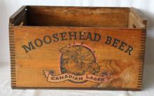 Vintage / Antique Moosehead Beer Wooden Crate