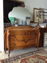 ca. 1920 Bird's Eye Maple Inlay Vanity Dresser