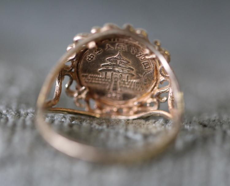 Asian panda coin ring