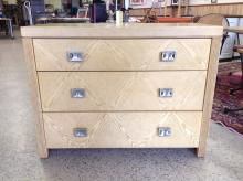 Vintage Harbor Home Oak 3-Drawer Dresser