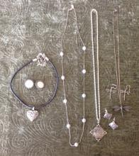 3 Pair Costume Earring & 4 Necklaces