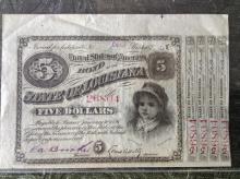 1875 Louisiana $5 Bond Note