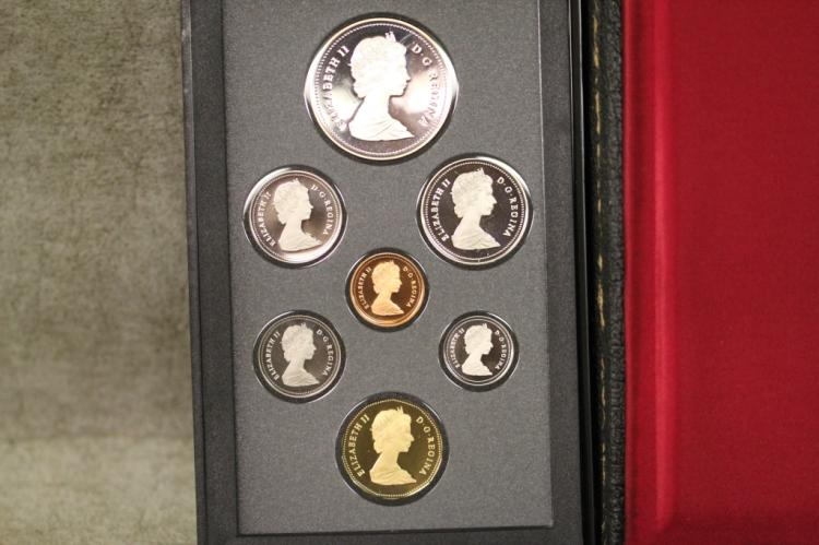 1988 CANADIAN PROOF SET w/ BOX $1 IS SILVER