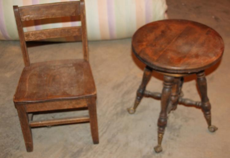 2pc Lot Includes Childs Chair