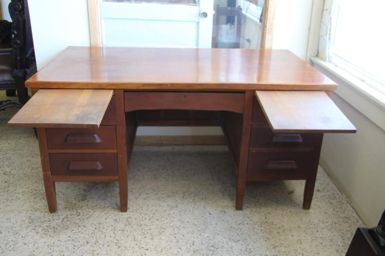 lot 53 antique solid wood executive office desk
