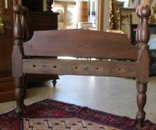 Mid-19th Century Cannon Ball Rope Bed - Twin
