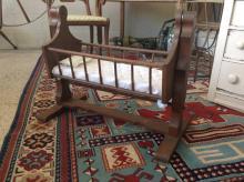 Primitive Child's Wooden Doll Cradle