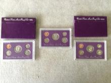 1991, 92 & 93 U.S. Mint Proof Sets