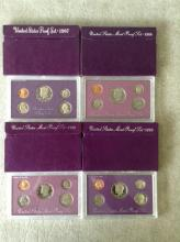 1987 - 1990 U.S. Mint Proof Sets