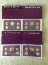 3 1985 & 1984 U.S. Mint Proof Sets