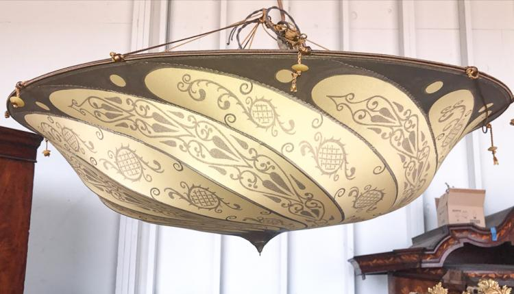 An authentic fortuny silk hanging shade - Fortuny real estate ...