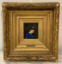 19th Century Signed Oil On Canvas, A. Toulmouche