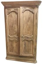 18th Century Bleached Oak French Armoire,
