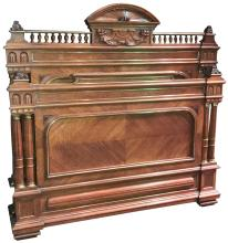 Superb Quality French Carved Walnut Bed
