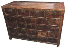 Good Antique Chinese Elmwood Chest Of Drawers,