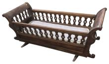 Early French Walnut Child??Ès Cradle, From Early