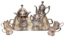 Five Piece Silverplated Tea Service,