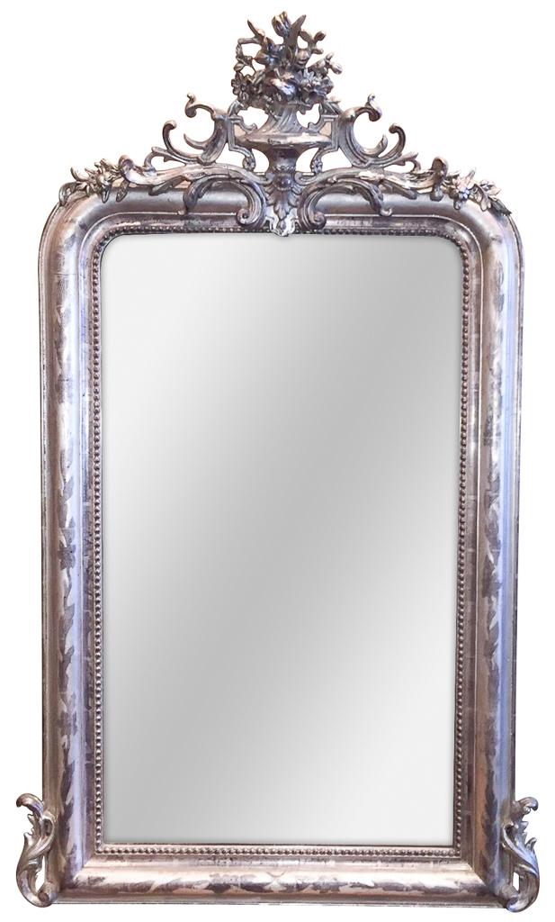 19th C. French Silver Louis Phillipe Mirror
