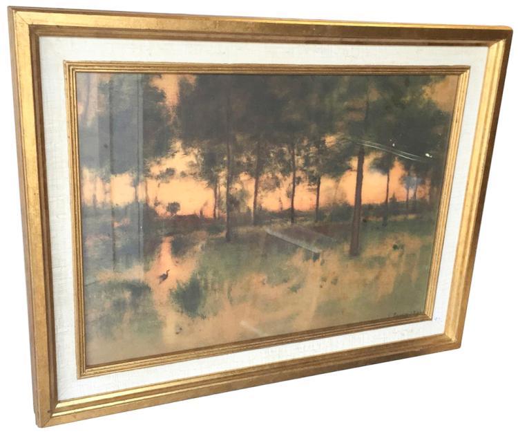Nicely Framed George Ennis Impressionist Copy