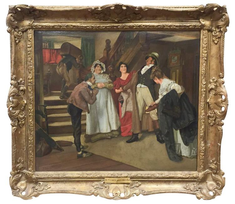 English Oil On Canvas, Entitled