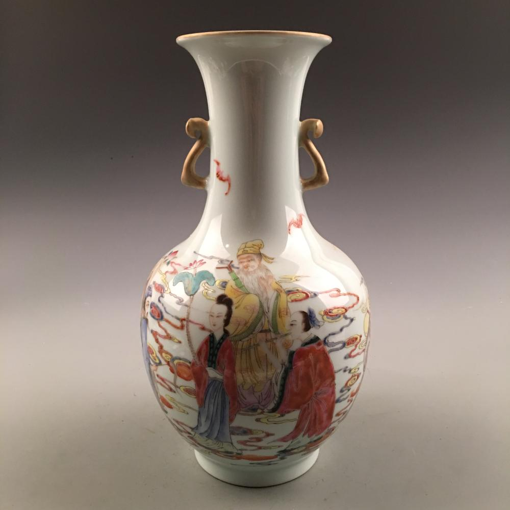 Chinese Famille Rose 'Immortals' Vase