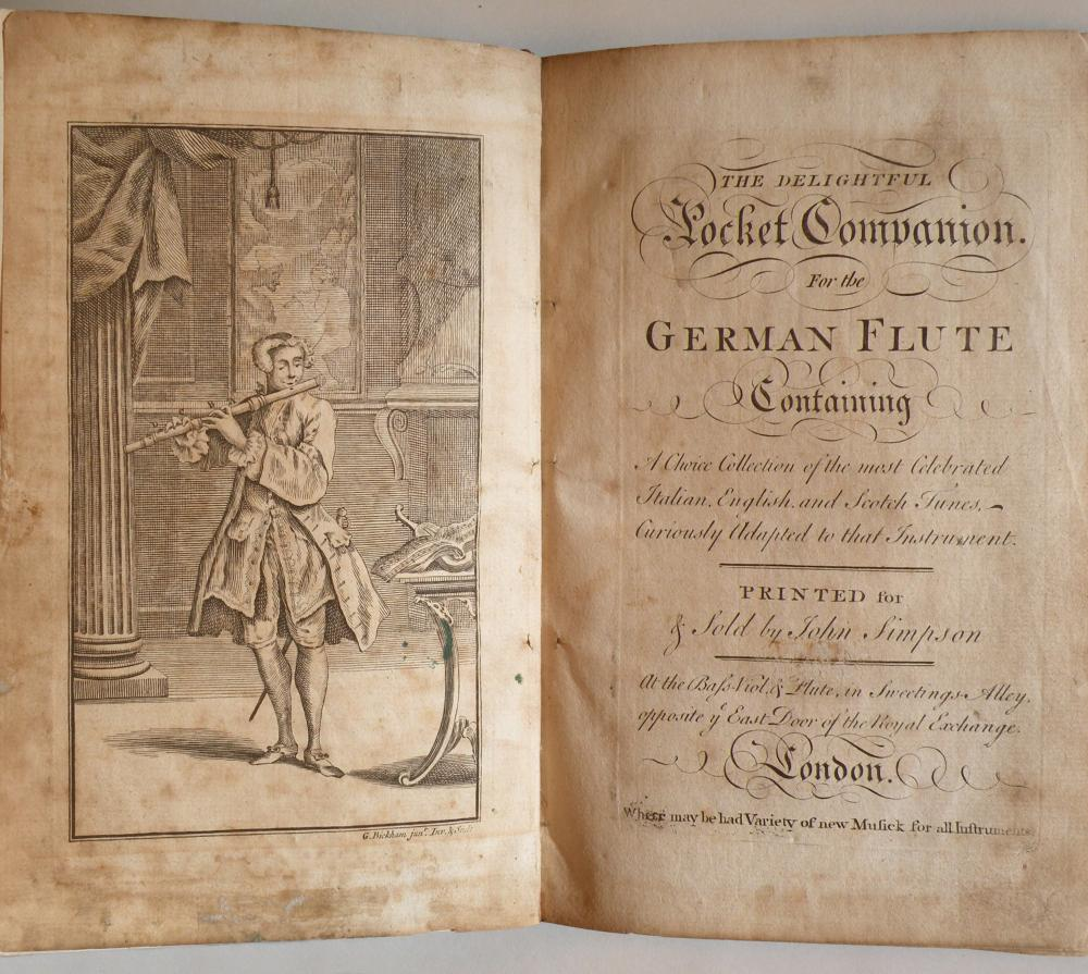 61218bd5 FLUTE - 18th Century]. The Delightful Pocket Companion. For