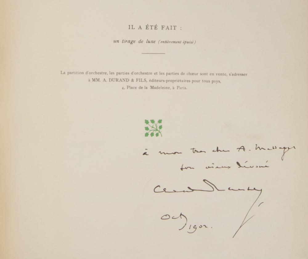 Debussy Claude La Damoiselle Elue Poème Lyrique Daprès D