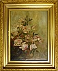 Oil on Canvas, Still Life of Roses, Unsigned
