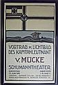 1919 German Theater Poster, Framed