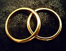 (2) 18k Gold Wedding Bands
