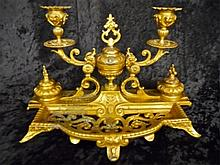 19th C. Gilt French Empire Desk Set