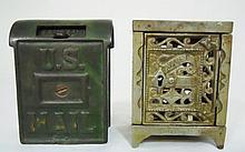 Antique Cast Iron Still Banks (2)