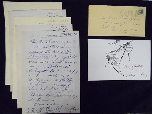 Andrew Wyeth (1917-2009) Correspondence Group (6)