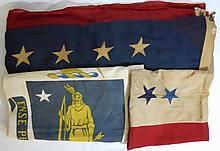 Antique American Flag Group (3)