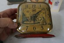 3 ANIMATED NOVELTY CLOCKS, 2 TICK, AS IS, FROM  THE MARS COLLECTION, AS PICTURED