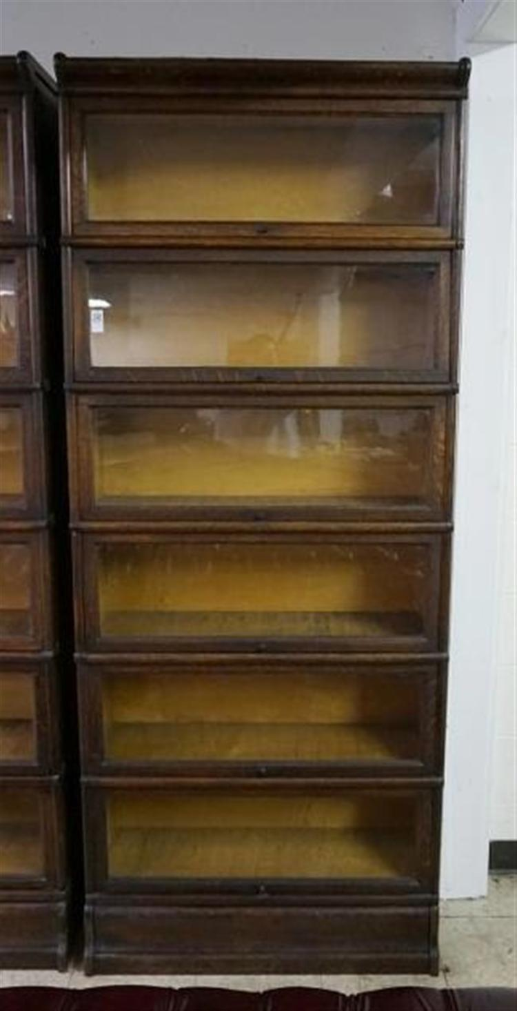 Macey 6 Stack Oak Barrister Bookcase Measures 84 High X 34