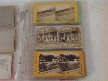 LOT OF 36 FINE STEREOVIEWS INCLUDING HOOSAC TUNNEL, FIRE ENGINE, HOUSEWORTH CALIF., FIRST MADISON SQ. GARDEN, WEST POINT, GENERAL BUTLER'S DAUGHTER'S BRIDAL PARTY, HARRIET BEECHER STOWE'S HOME, ETC. PLUS A CABINET CARD OF A PERFORMING HORSE AND LURAY CAVERNS BOUDOIR CARD, AS PICTURED