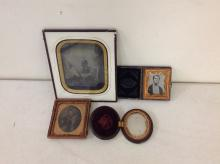 LOT OF 3 CASED AND 1 FRAMED IMAGES: 7