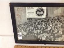 PANORAMIC PHOTO OF THE WHITE HOUSE NEWS PHOTOGRAPHERS ASSOCIATION ANNUAL DINNER, HOTEL SHERATON-PARK, APRIL 25, 1968, FRAME MEASURES 10 1/4