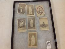 LOT OF 7 CDV'S OF NORTH AFRICAN NATIVES, INCLUDES 2 BY ALARY & GEISER, ALGIERS; 1 BY C. PORTIER, ALGIERS; 1 BY J.S. YOUNG, WASHINGTON, PA WITH TAX STAMP; AND 1 BY GEO. WASHBURN, CASTLE, NY, AS PICTURED