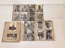 LOT OF 31 REAL PHOTO POSTCARDS, 25 ARE OF AFRICA AND AFRICANS, AS PICTURED