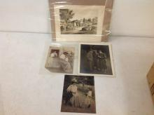 LOT OF 3 PHOTOGRAPHS AND 1 LITHOGRAPH OF PHOTOGRAPHERS: LITHOGRAPH