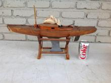 OLD POND BOAT W/LEAD WEIGHTED BASE, MEASURES 22 1/2