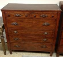 VICTORIAN WALNUT DRESSER WITH CARVED PullS, MEASURES 49