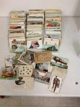 GOOD LOT ESTATE POSTCARDS,  INCLUDING REAL PHOTO, HOLIDAY, MINIATURE NEW YORK CITY SETS, CONEY ISLAND, AND OTHER NEW YORK STATE CARDS, MOSTLY EAST COAST CARDS, GREAT LOT FOR DEALER, AS PICTURED